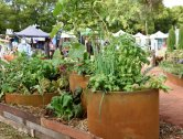 Corten vegies at our display at Perth Garden Festival 2019