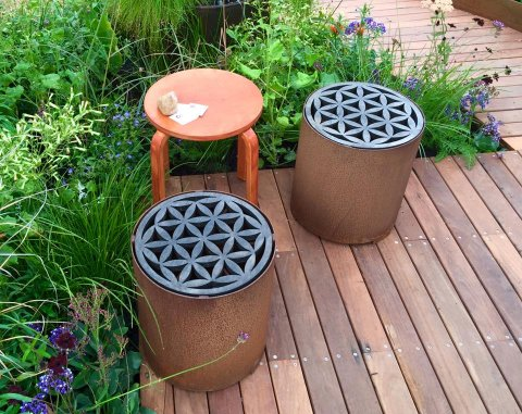 our cute flower of life stools