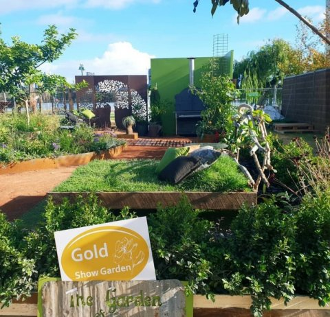 We were stoked to win Gold at the Perth Garden Festival. Check out our zoysia turf daybed!