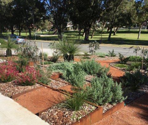 No lawn front garden design