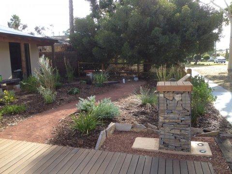 native garden gabion letterbox