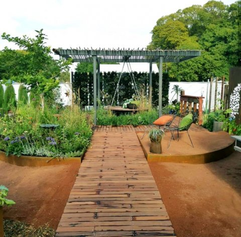 Here is the walkway in biophilic show garden at Perth Garden Festival 2019