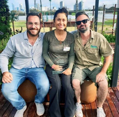 Vincenzo from Meme Flooring, Cherise and Alessio from Alessio's Gardens